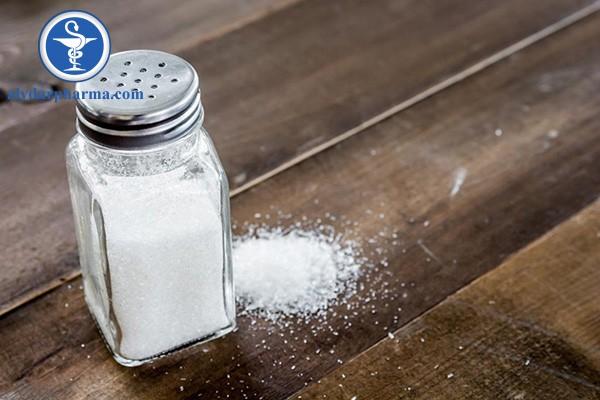Hạn chế sử dụng muối trong thời gian dùng thuốc