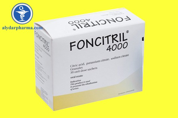 Foncitril 4000 được dùng để điều trị các vấn đề ở đường tiết niệu