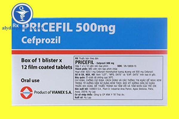 Những chống chỉ định khi sử dụng thuốc Pricefil