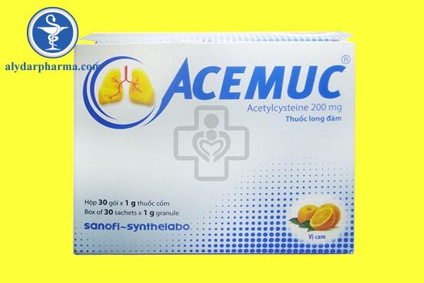 Thận trọng cảnh báo khi sử dụng Acemuc
