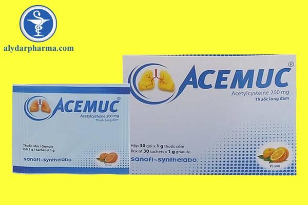 Liều dùng của thuốc Acemuc