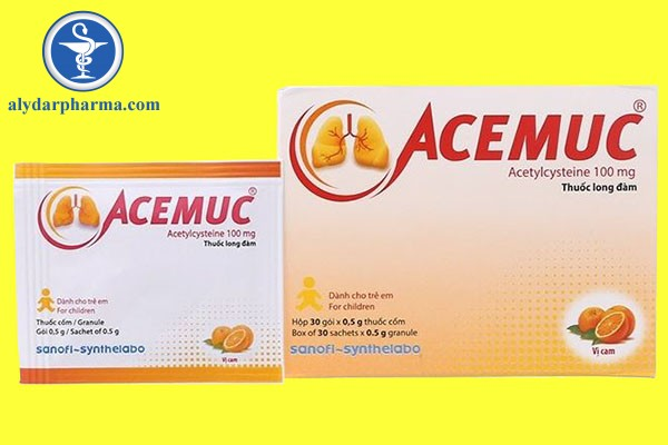 Tương tác thuốc khi sử dụng Acemuc