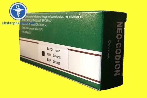 Tương tác khi sử dụng thuốc Neo-codion
