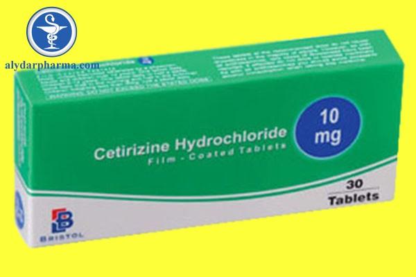 Cetirizin hydroclorid được chỉ định điều trị triệu chứng viêm mũi dị ứng.