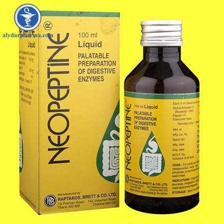 Chống chỉ định khi dùng thuốc neopeptine