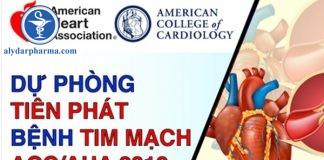 Hướng dẫn dự phòng tiên phát biến cố tim mạch của ACC/AHA 2019