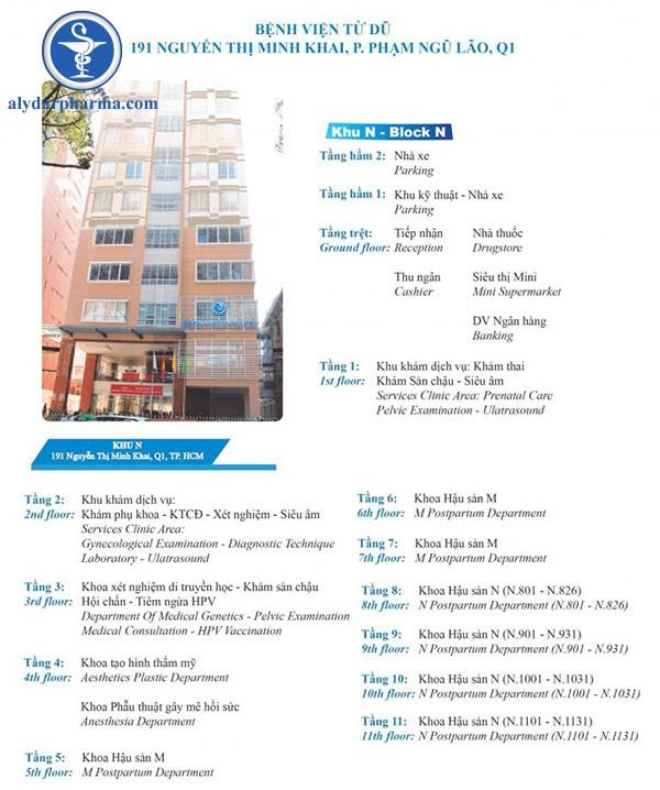Hình sơ đồ bệnh viện từ dũ chi nhánh phạm ngũ lão