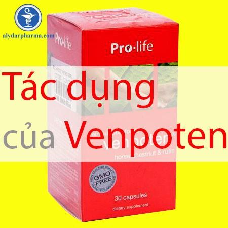 Tìm hiểu tác dụng của thuốc Venpoten
