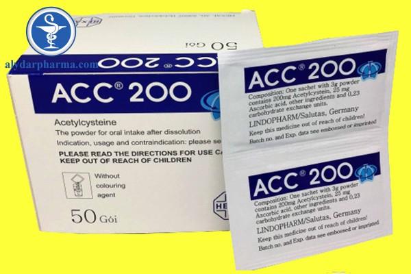 Những thông tin về thuốc Acc – 200