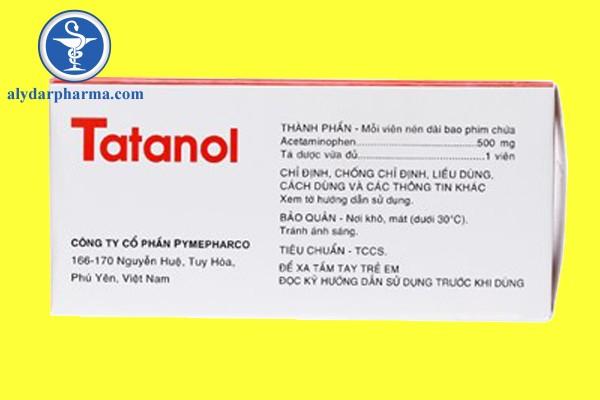 Chống chỉ định của thuốc Tatanol 500mg