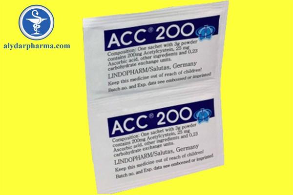 Tương tác thuốc khi sử dụng Acc – 200