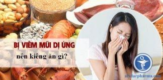 Người bị viêm mũi dị ứng kiêng ăn gì để bệnh không tái phát?