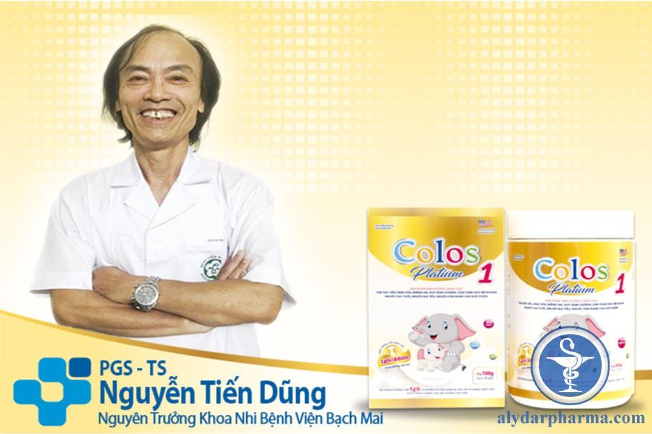 Sữa non Colos Platium 1 được Bác sĩ Nguyễn Tiến Dũng - Nguyên trưởng khoa Nhi bệnh viện Bạch Mai khuyên dùng vì có chứa nhiều kháng thể IgG giúp tăng đề kháng, bé khỏe hơn