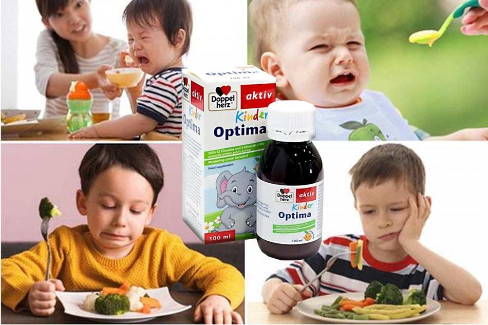 Kinder optima cung cấp dưỡng chất cho trẻ biếng ăn, suy dinh dưỡng,...