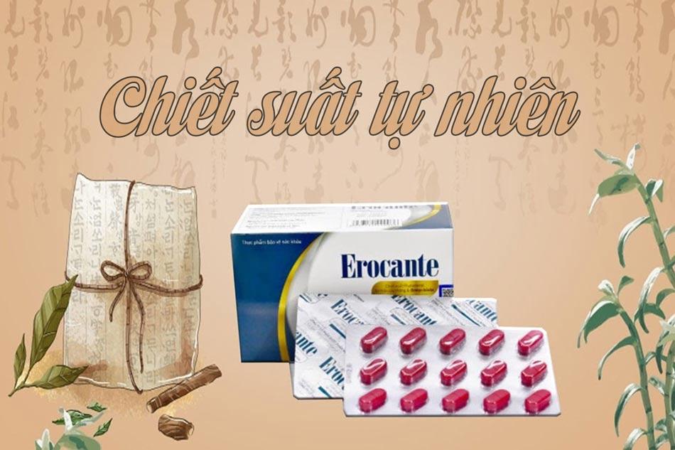 Erocante thực phẩm bảo vệ mái tóc từ tự nhiên