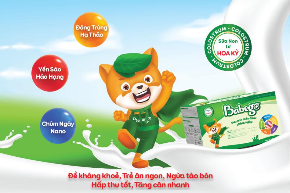 Sữa non Babego chứng nhận từ Hoa Kỳ