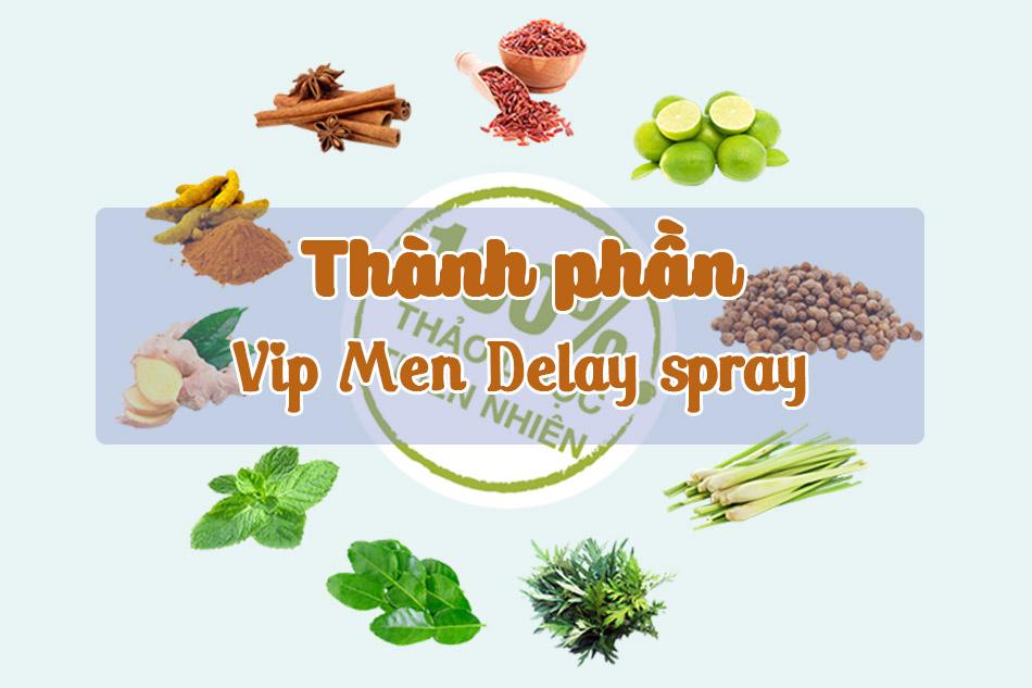 Thành phần của Vip Men Delay spray